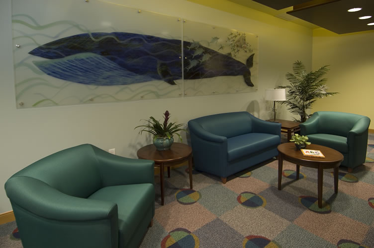 Children's Hospital Oakland Lobby created by Uhrich Design, Elk Grove, CA